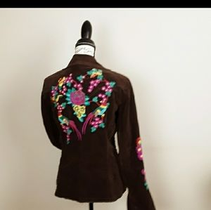JOHNNY WAS LOS ANGELES...JWLA...embroidered blazer